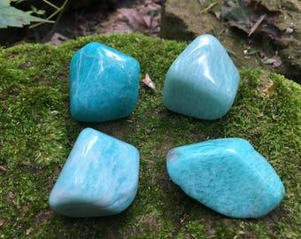 """Large Tumbled Amazonite stones crystals ~ 1.25"""" - 1.75"""""""
