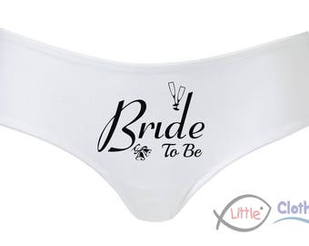 Bride to Be Ladies Briefs - Ideal for Weddings & Hen Night Parties