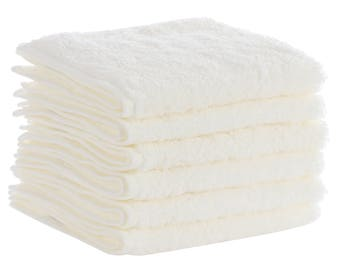 6 Pack Egyptian Cotton Wash Cloth Caribbean Natural  Brand - Free of Harsh Chemicals and Dyes