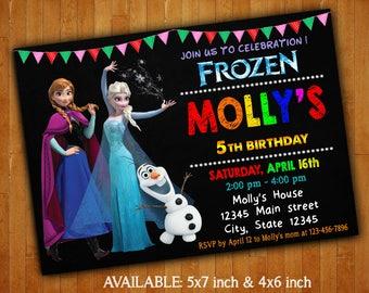 Frozen Invitations - Anna & Elsa Frozen Birthday Party Invitation - Frozen Digital File - Frozen Birthday - Frozen Printable