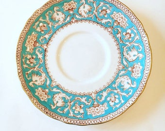 Fine Bone China Crown Staffordshire Ellesmere Blue and White Saucer