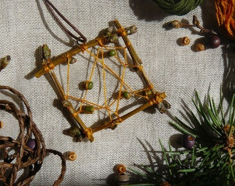 pendent, Hippie jewelry, talisman,  wooden amulet, natural, authentic, Boho