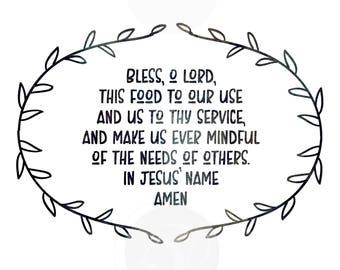 Dinner Prayer Etsy