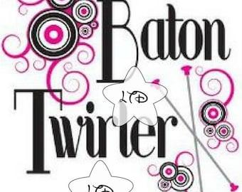 Baton Twirler Iron On Transfer
