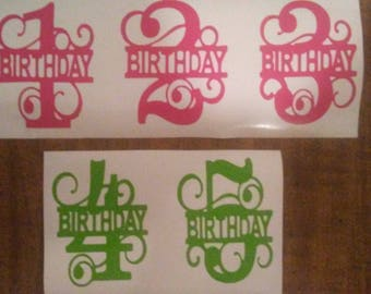 Split Birthday Number Decal: Age One Through Twenty