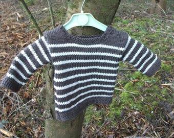 baby boy 3 months chocolate and vanilla sweater