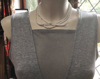 White rope necklace