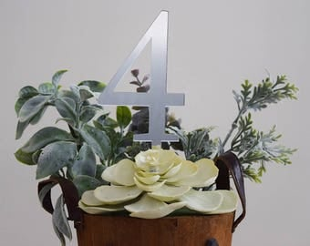 Classy Mirror Stick Table Numbers | Wedding Table Setting | Party Decor | Centerpieces | Acrylic | Prom | Reception | Graduation | Sixteen