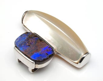 Opal Jewellery - Opal Pendant with Natural Opal from Australia (Boulder Matrix Opal)