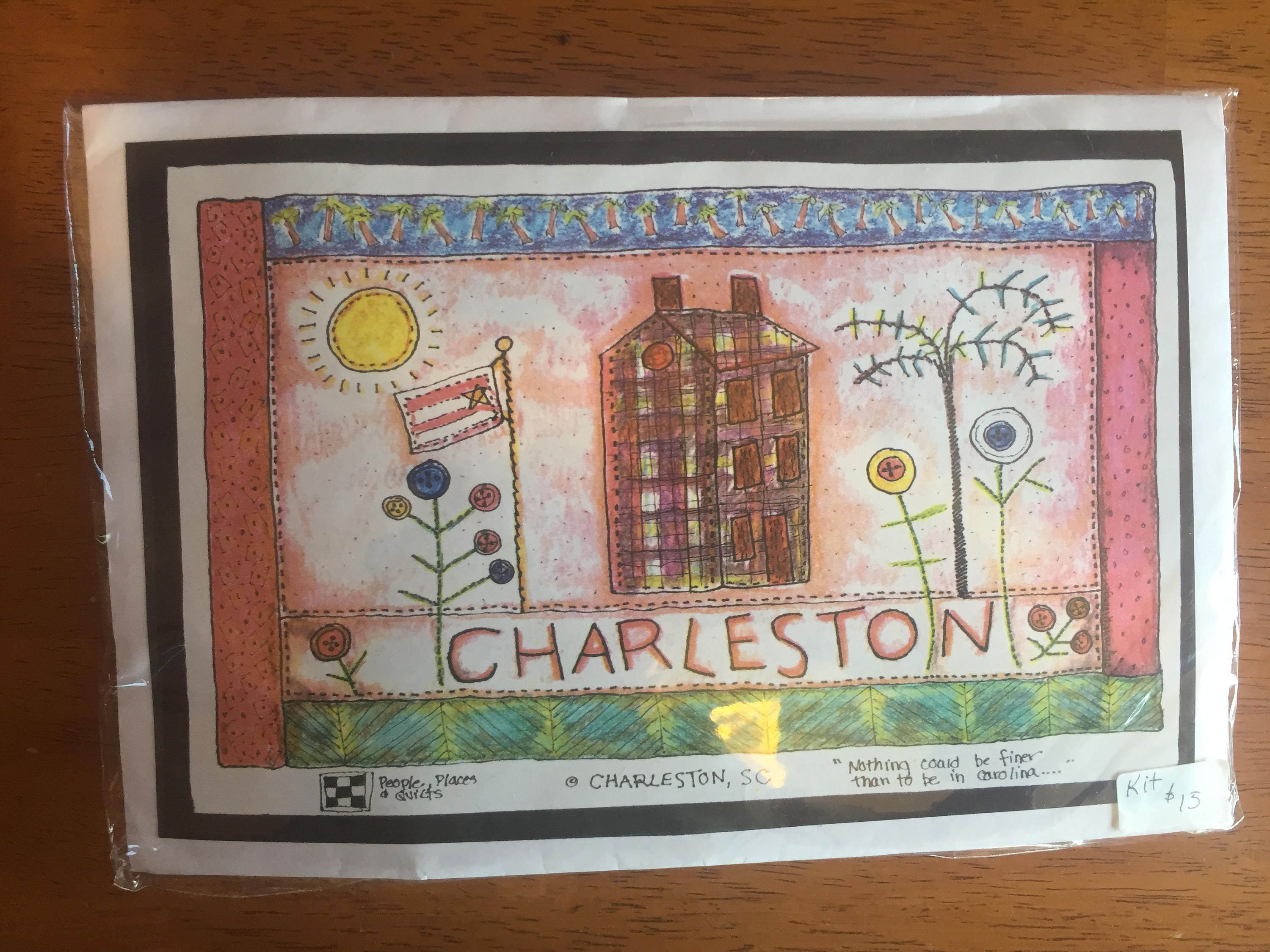 Charleston S.C a People, Places and Quilts Pattern 13x16 from ... : people places and quilts - Adamdwight.com