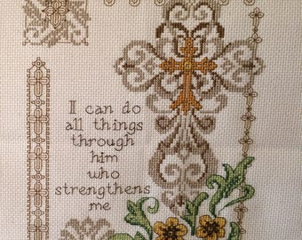 Strengthen Me counted cross stitch