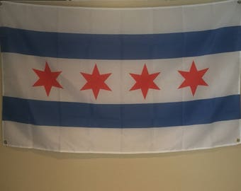 Chicago City Wall Flag