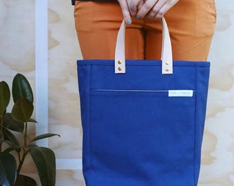 The A4 Tote: Blue Canvas