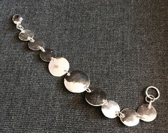 Reticulated Sterling Silver Disc Bracelet