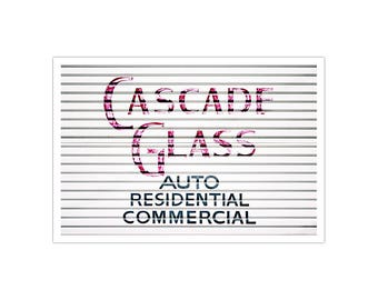 CASCADE GLASS | Purple Roll-Up Door Typography Fine Art Photography