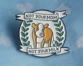 Vegan, Enamel Pins, Vegan Enamel Pin, Vegans, Lapel Pin, Dairy Free, Animal Activist, Vegan Activist, Vegan Gift, Friends Not Food