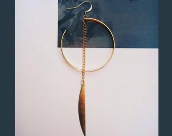 Golden round Chandelier/Earrings\High-Street Fashion\Design\gifts\birthday gift