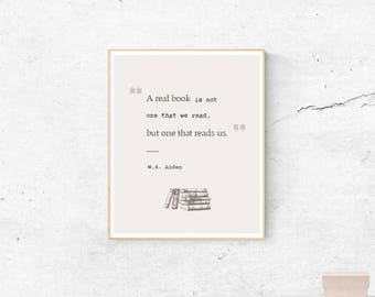 Book quote - literature - Digital art print - INSTANT download - Book lovers gift - Gift idea