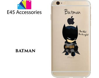 BATMAN - Marvel Super Heros Hard Case for iPhone 5S 5 SE, iPhone 6S 6 or iPhone 7