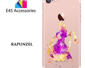 RAPUNZEL Disney Watercolour Hard Case for iPhone 5S 5 SE, iPhone 6S 6 or iPhone 7