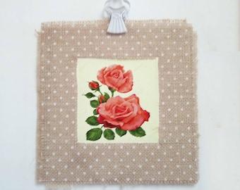 Rose - Shabby chic wall decor, shabby prints, shabby flowers, print flowers, vintage flowers, wall art    Tropparoba - 100% made in Italy