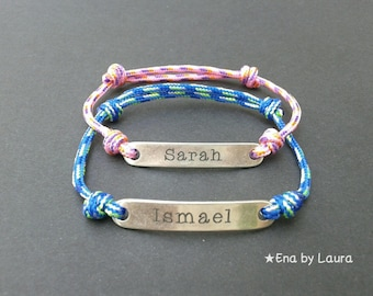 Unisex bracelet personalized with name