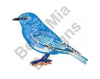 Bird - Machine Embroidery Design, Bluebird, Idaho Mountain Bluebird