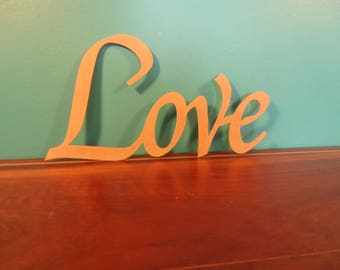 Home and living. Inspirational wooden sign. home decor. romantic font. wall hanging or standing.