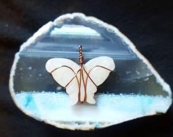 White Jade butterfly pendant