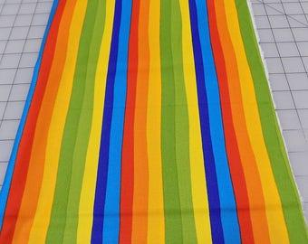 Dr Seuss Fabric, Stripes, Celebrate Seuss, Red, Blue, Green, Robert Kaufman, Seuss Birthday, Books, Read, Cotton, Woven, Fabric by the Yard