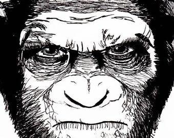 Caesar (Planet of the Apes) Medium Print