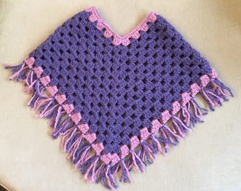 Childrens crochet poncho (3-6 years)