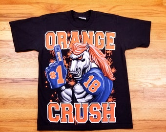Vintage Denver Broncos Orange Crush T Shirt Size Medium M