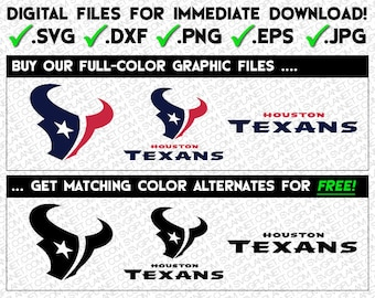 HOUSTON TEXANS svg logo 5 file formats (svg, dxf, png, eps, jpg) download instantly!! image vector clipart files for cricut silhouette