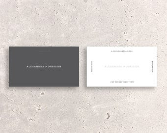 Modern DoubleSided Business Card Template Twotone - Double sided business card template