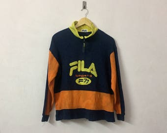 SALE ! Vintage FILA big logo embroidery logo