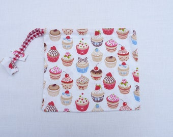 "fabric bag 22 x 17 cm original ""my cute cupcakes"""