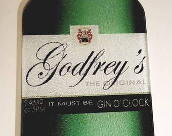 Gin chopping board, personalised gin bottle cutting board, name chopping board, gin lovers gift, gin gift, personalised chopping board
