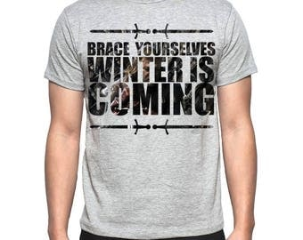 Mens Game Of Thrones Winter Is Coming - Grey T-Shirt