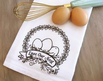 Love Our Nest Flour Sack Tea Towel
