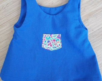 Pretty pinafore dress for doll type Corolla +/-30cm