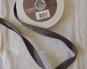 Width 2 cm colour grey suede bias