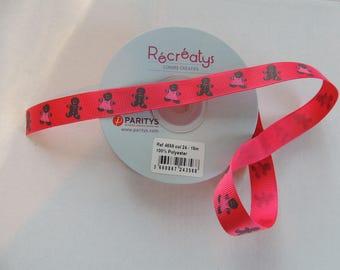 Ribbon grosgrain red pattern Cubs cookies