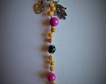 Hamsa - Yellow/Pink - Accessory