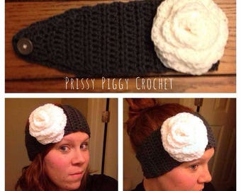 Adult Earwarmer with Rosette