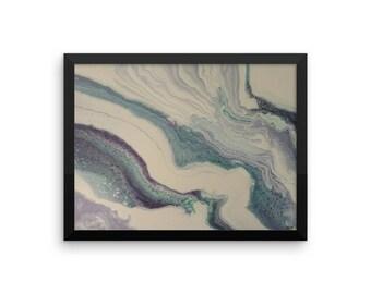 Marbled Sea Framed poster