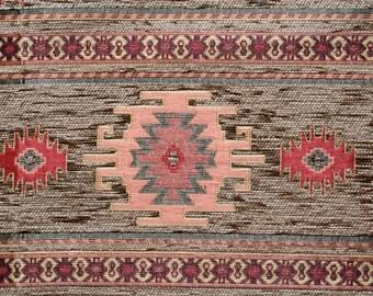 Brown Chenille Fabric,Carpet Fabric,Ethnic Fabric,Kilim Fabric,Woven Fabric,Jacquard Fabric,Upholstery Fabric,Geometric Fabric