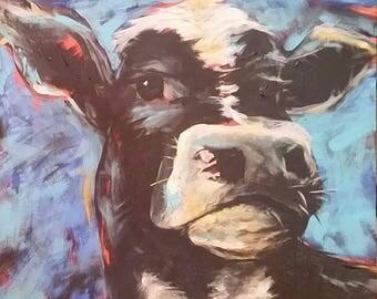 Cow w/ Attitude - original acrylic painting