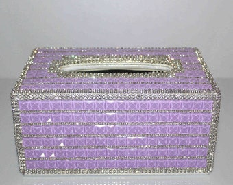Hand Made Swarovski Facial Tissue Holder