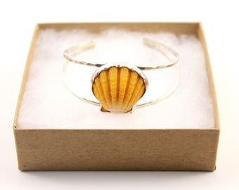 Sunrise Shell Cuff - Sterling Silver Cuff Bracelet -Sunrise Shell Bracelet -Sunrise Shell Jewelry -Hawaii Jewelry -Beach Jewelry -Rare Shell